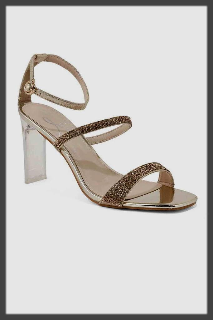 fancy Ankle Strap Heels shoes