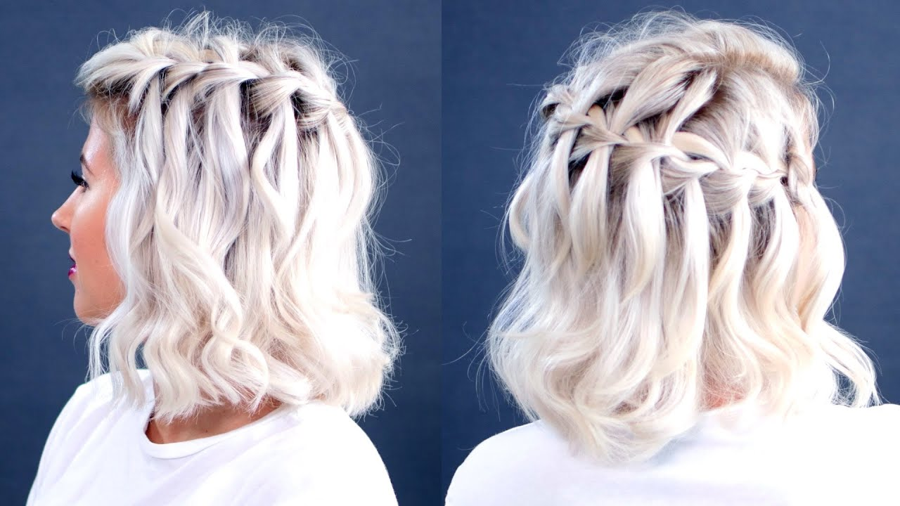 faux waterfall hairs