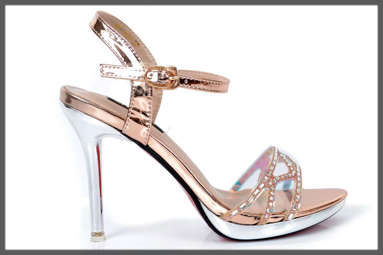 golden fancy heels
