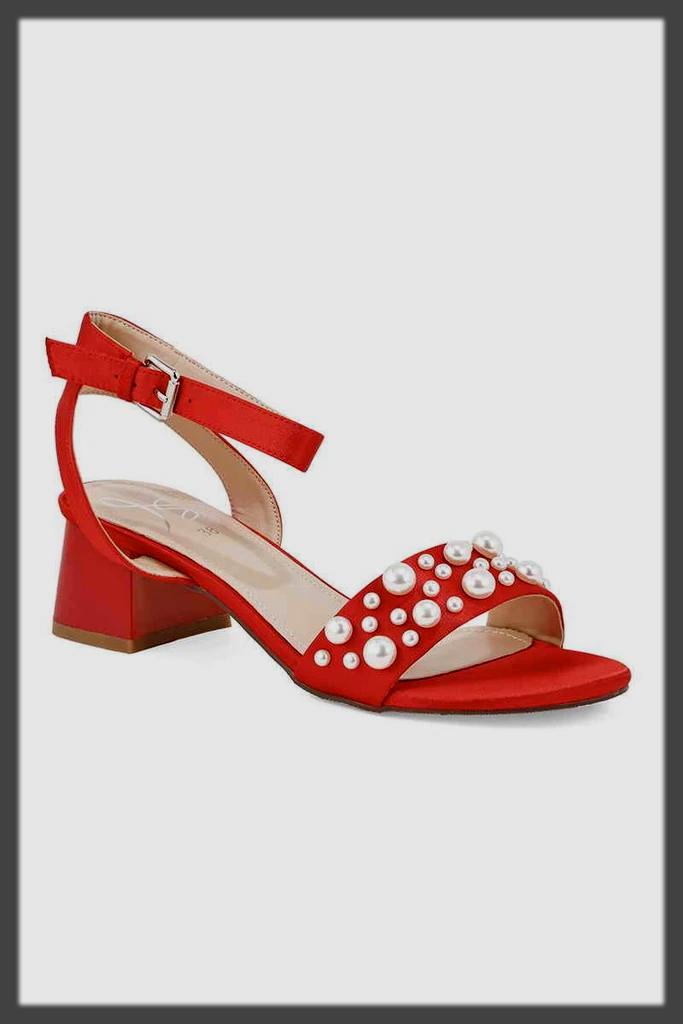 impressive red fancy sandals