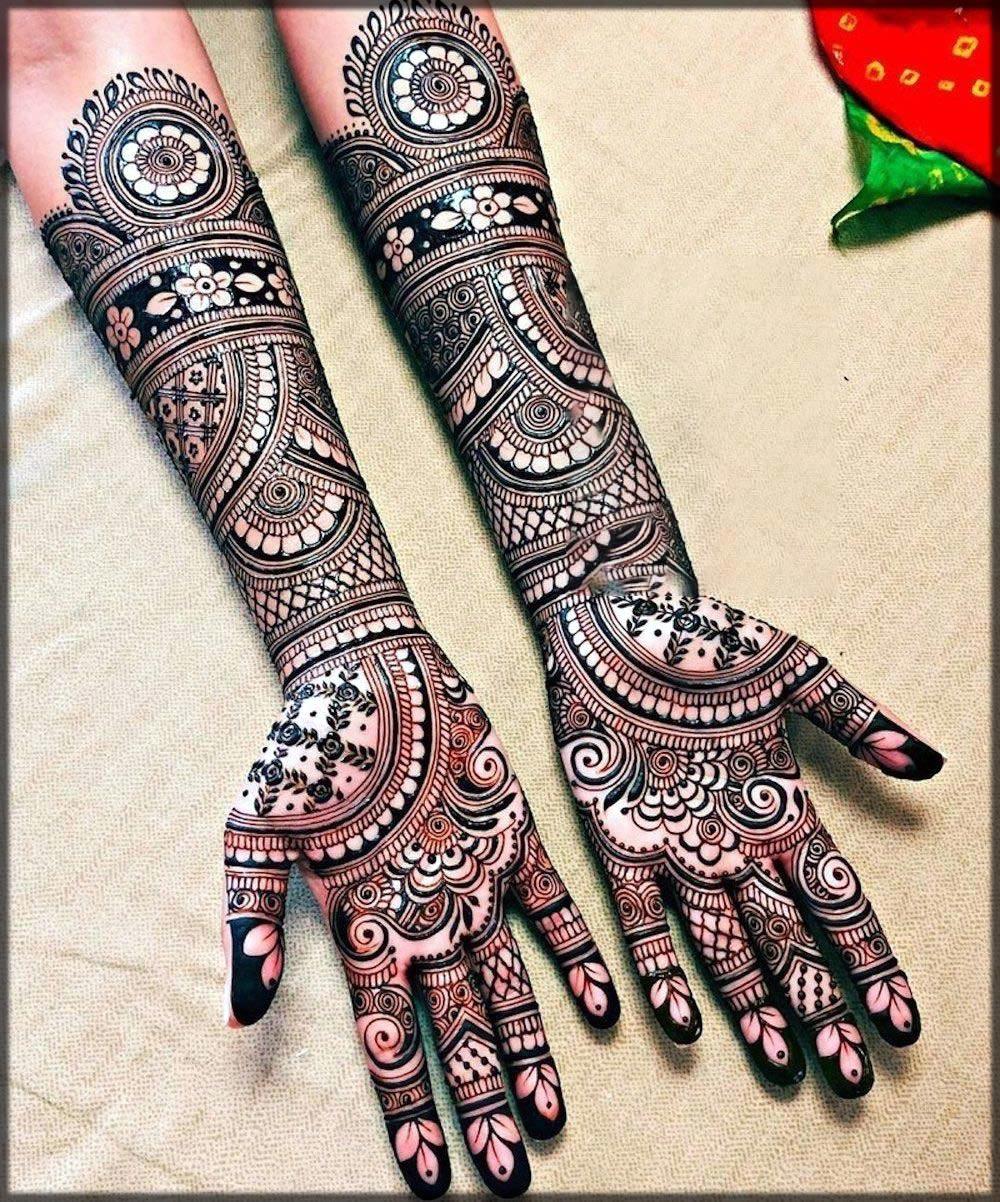 indian new black mehndi designs