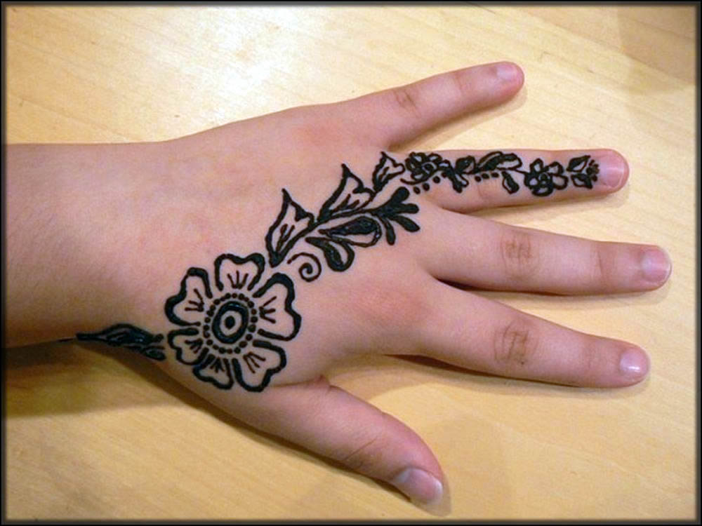 kids new black mehndi designs