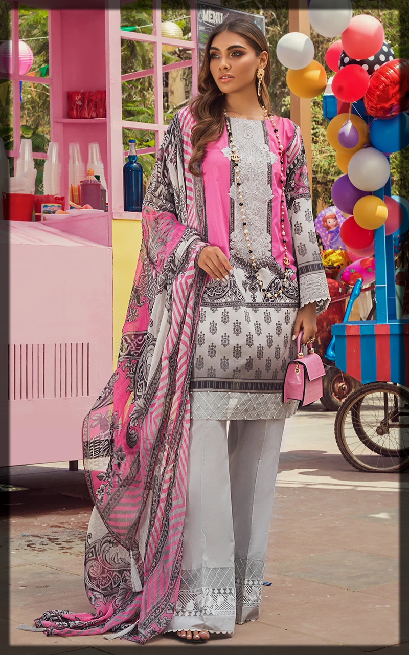 latest Threads and Motifs 3PC Lawn Collection