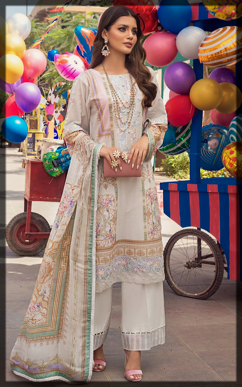 latest Threads and Motifs Lawn Collection