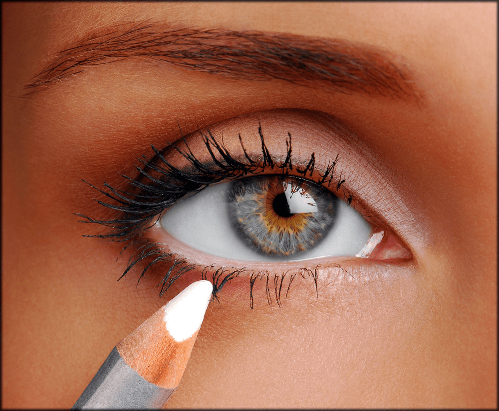 Making eyes bigger with light lower waterline