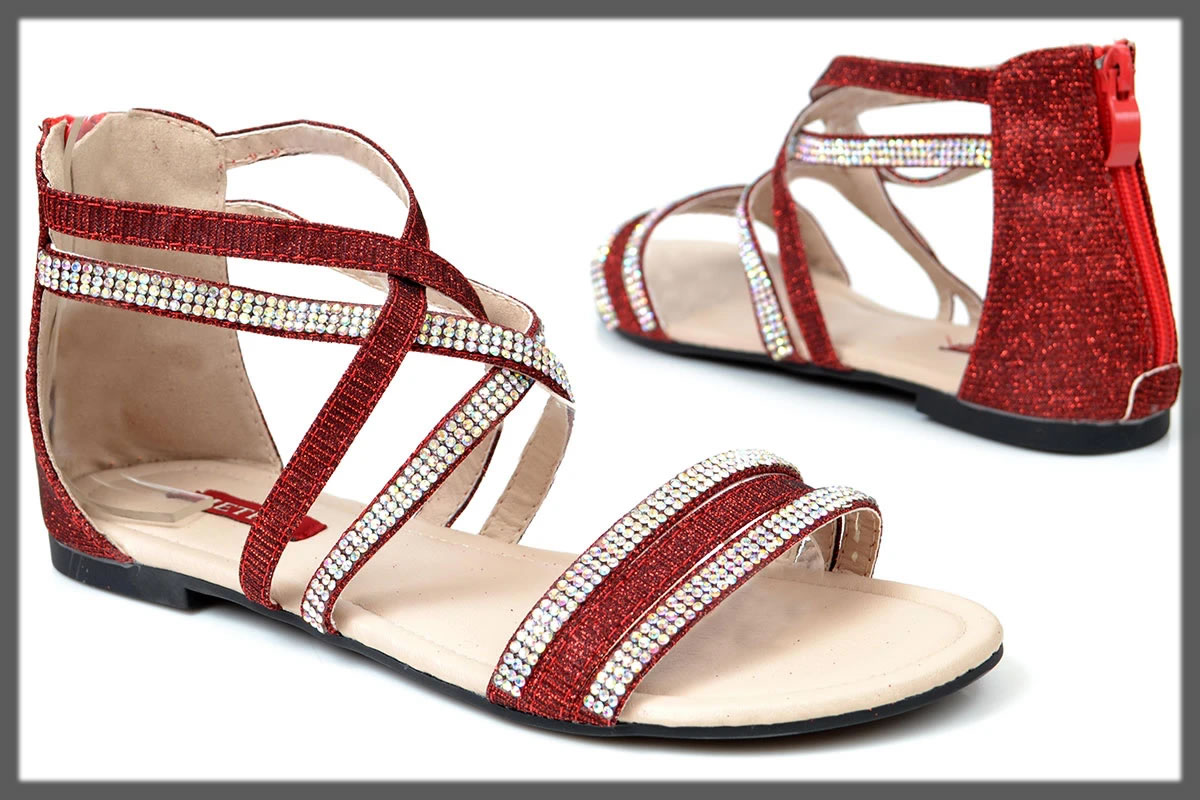 maroon casual sandals