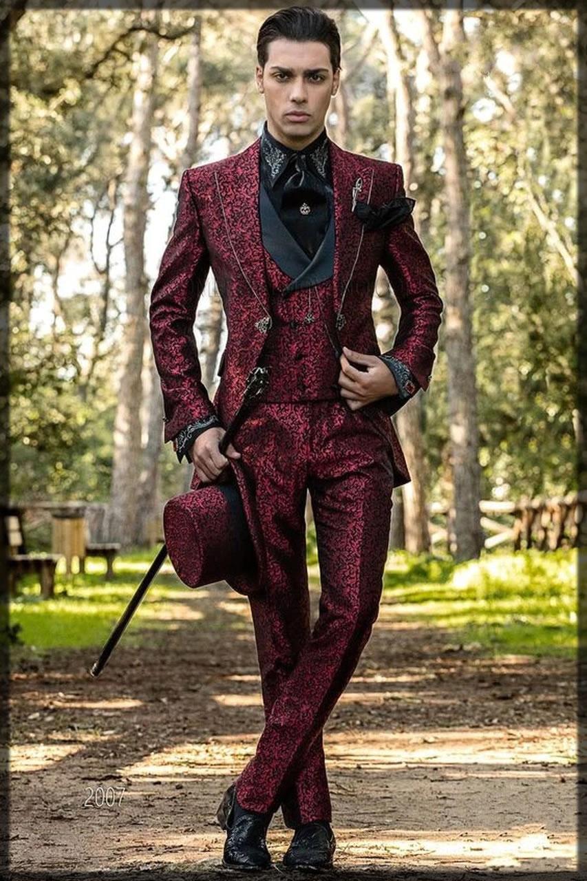 maroon walima suit