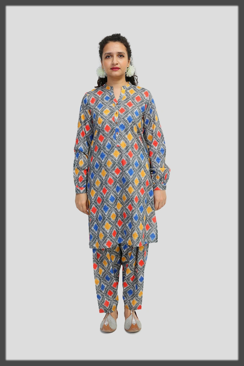 printed two piece suit by generation
