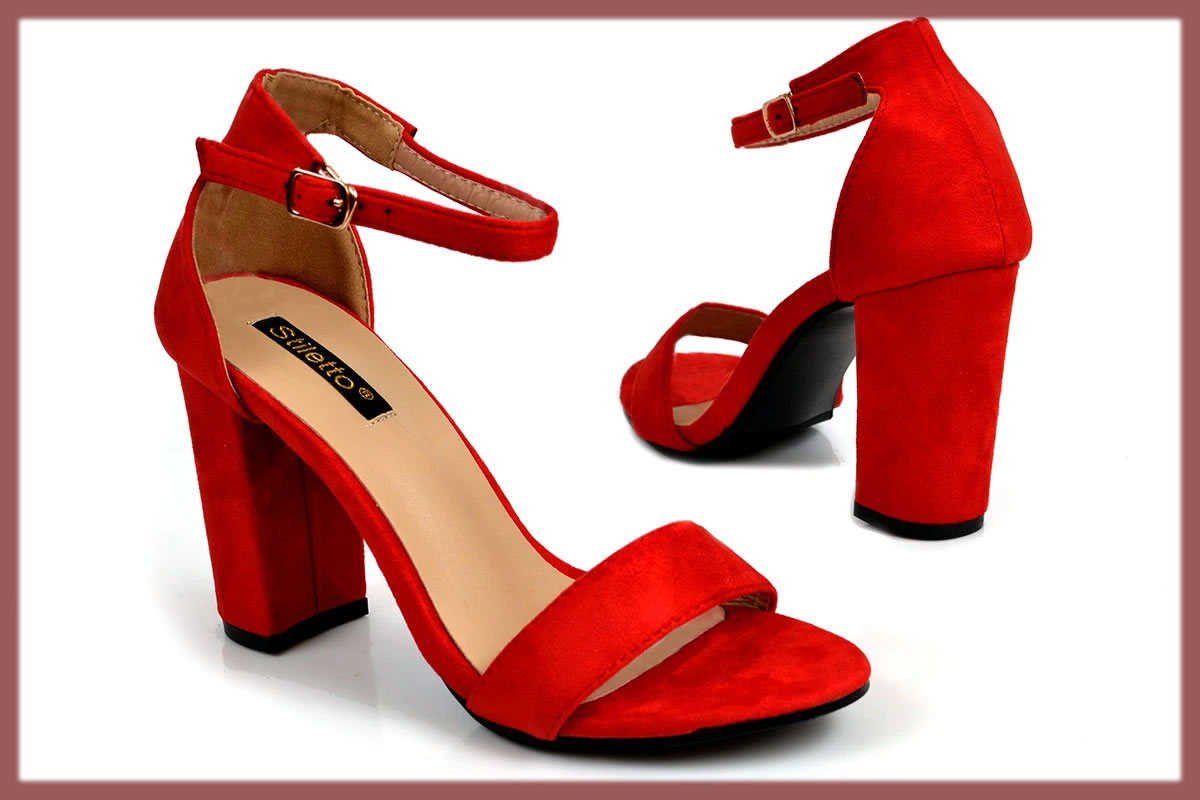 red bridal wear shoes