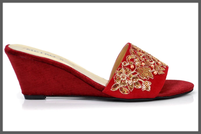 red fancy footwear for women