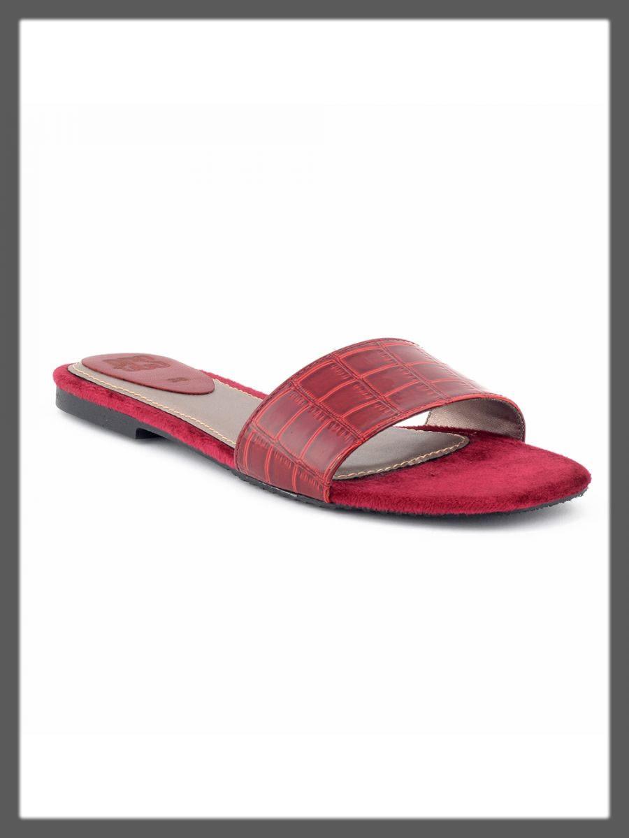 red slipper for women