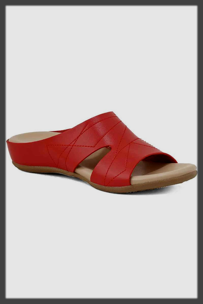 red summer casual shoes