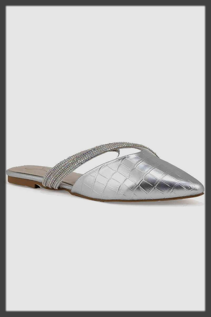 silver back open summer shoes