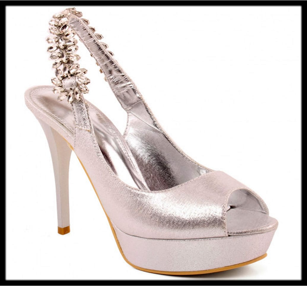 silver bridal shoes latest collection