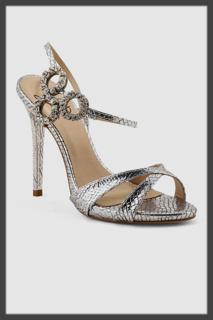 silver bridal wear shoes