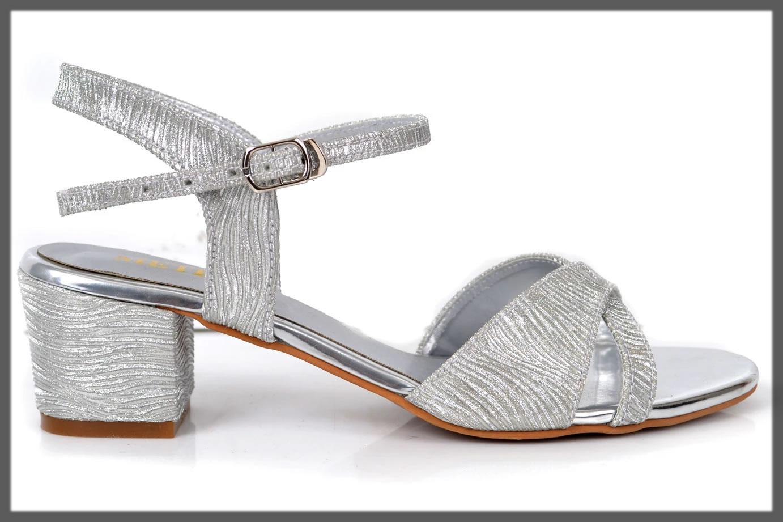 silver fancy sandals