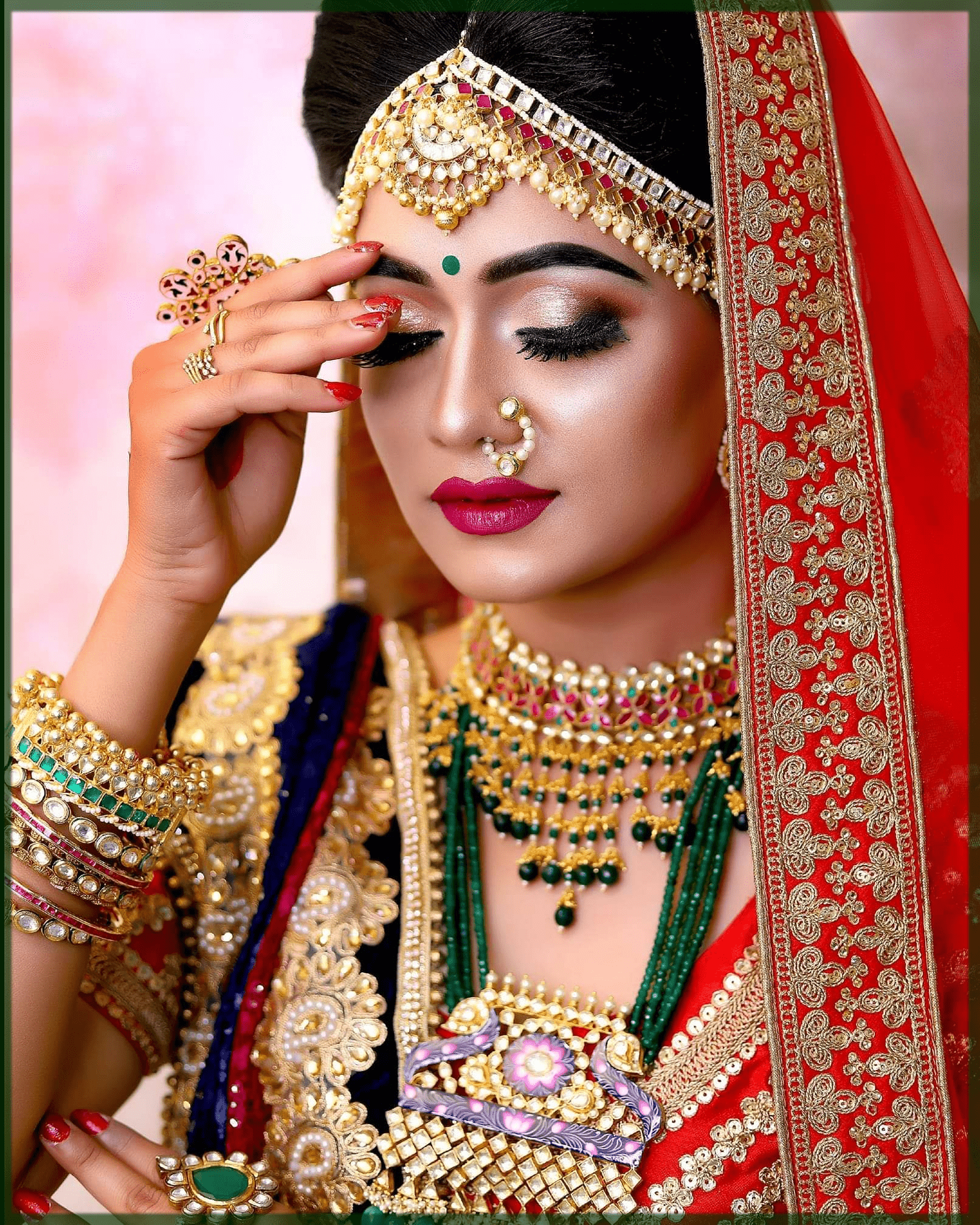stunning and classy indian bridal makeup