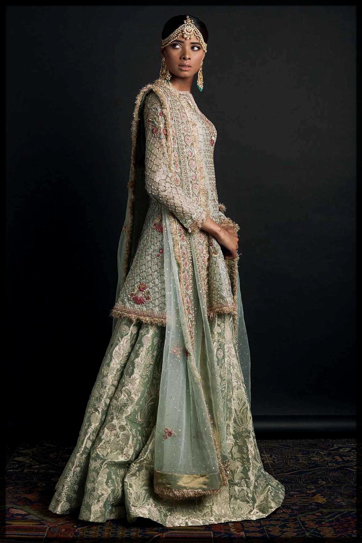 stunning bridal walima dress