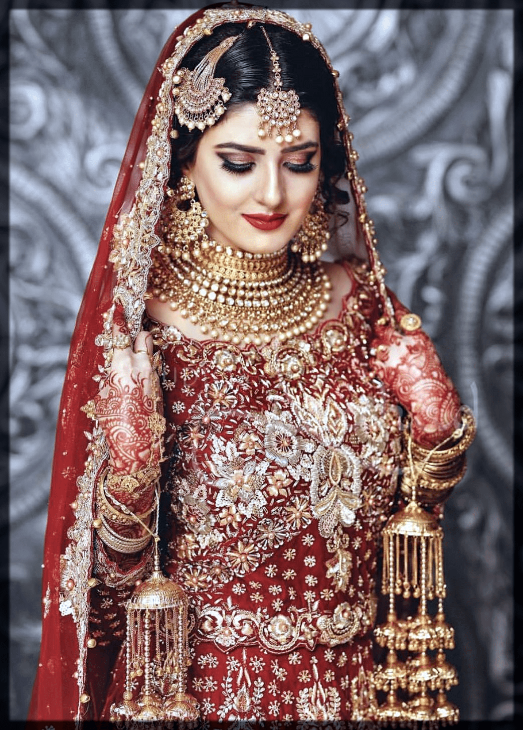 stunning red indain bridal makeup ideas
