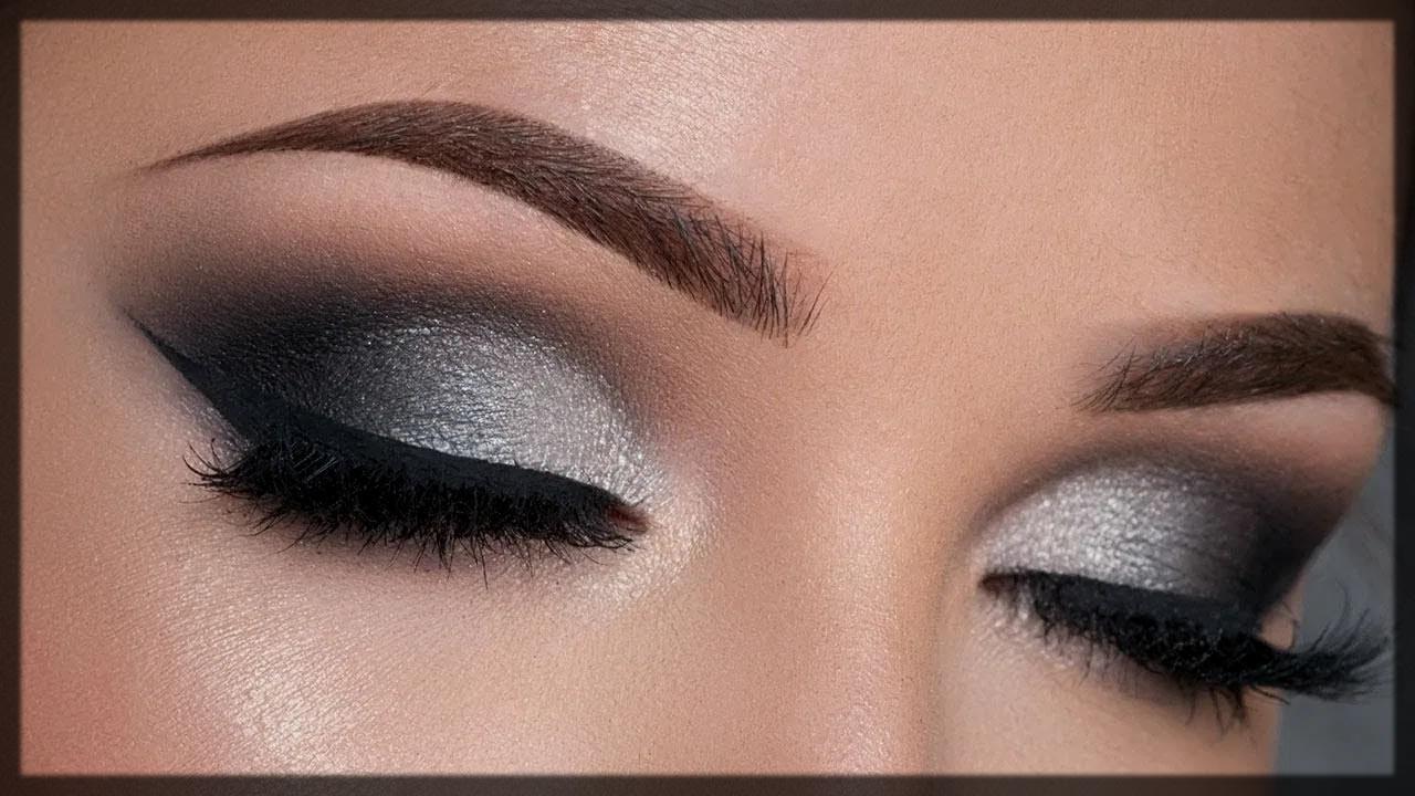 summer eyeshadows ideas in grey color