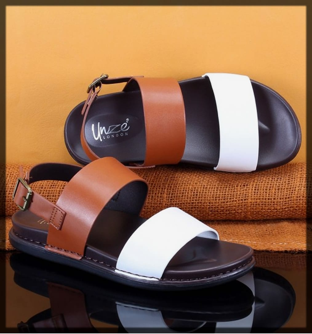 white and brown summer sandals shoes