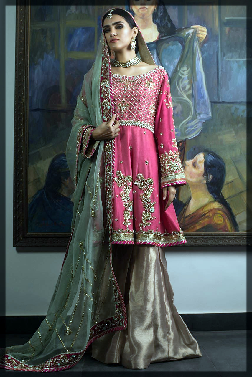 A-line frock with sharara