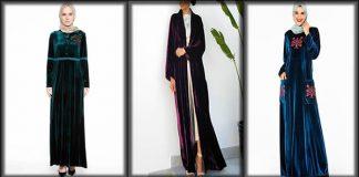 Most Beautiful Velvet Abaya Dresses 2021 with Fashionable Designs