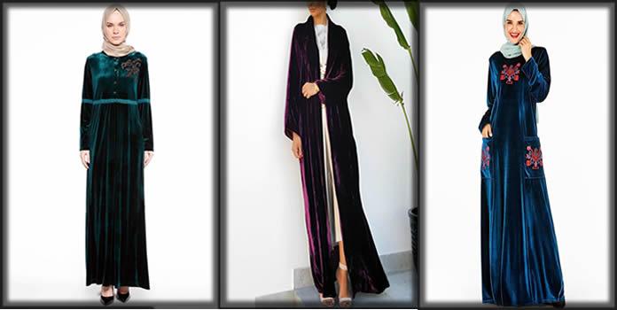 Beautiful and stylish velvet abaya designs