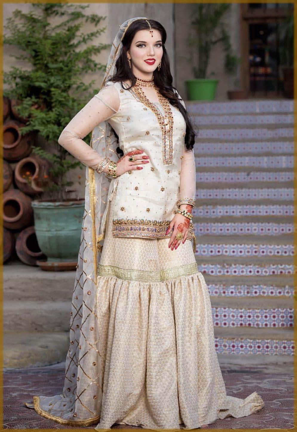 Beautiful bridal nikkah dress
