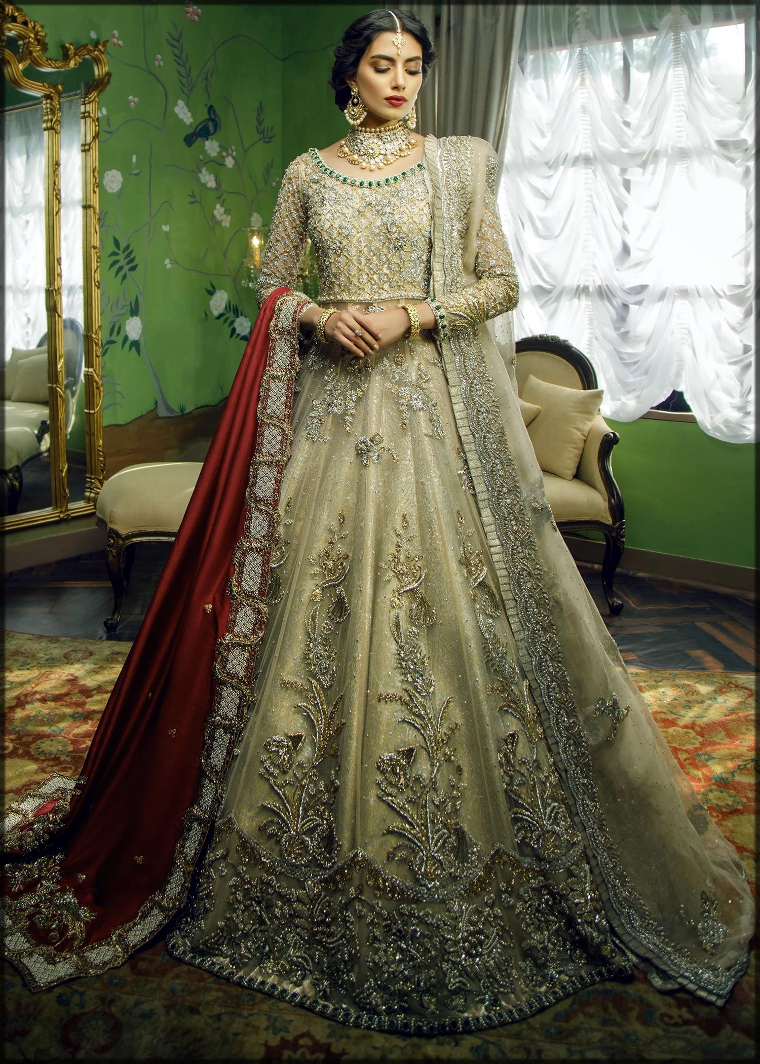 Beautiful peshwas for brides by sadaf fawad khan