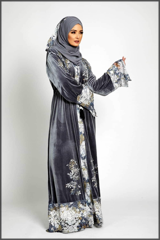 Beautiful velvet abaya