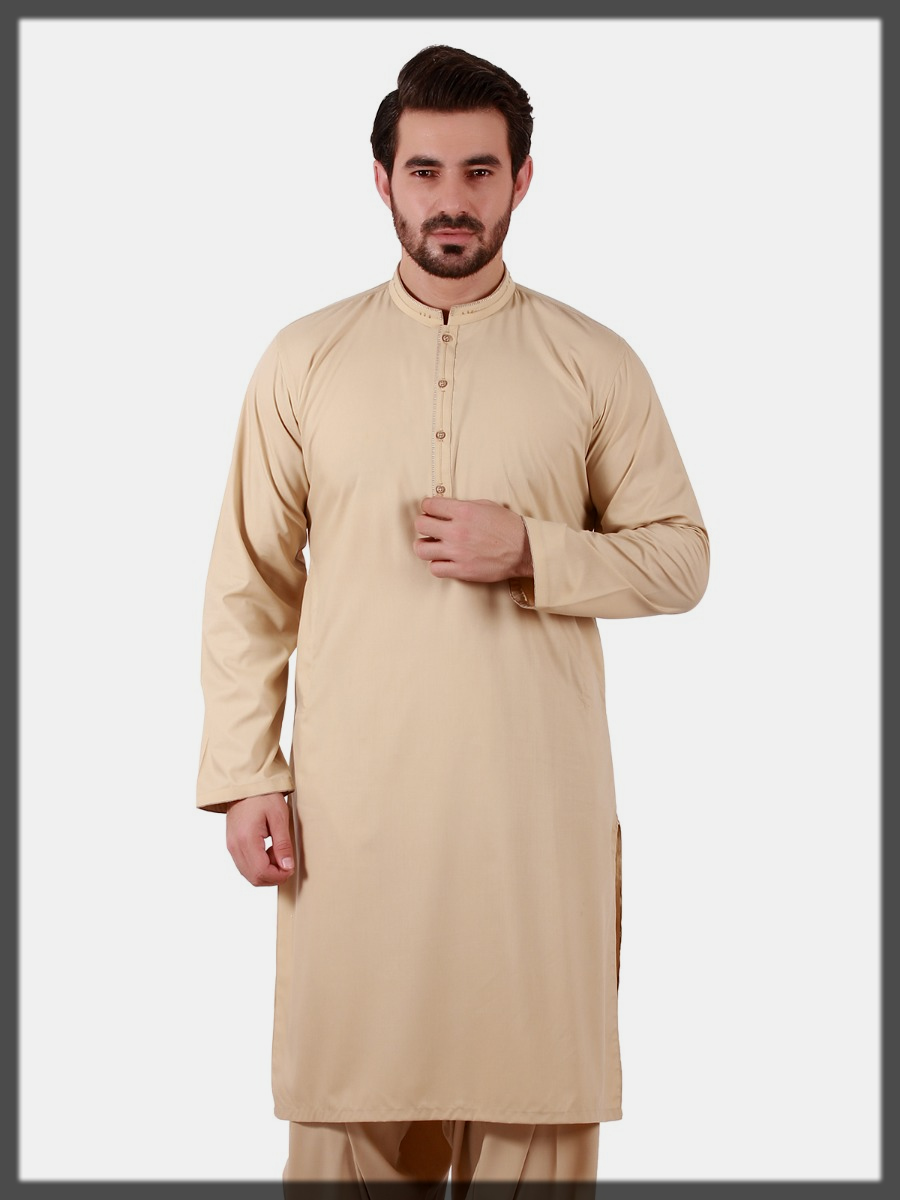 Beige Shaded Suit for Men
