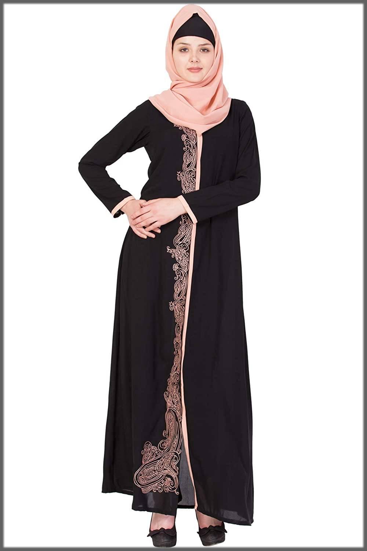 Black Open Abaya Design