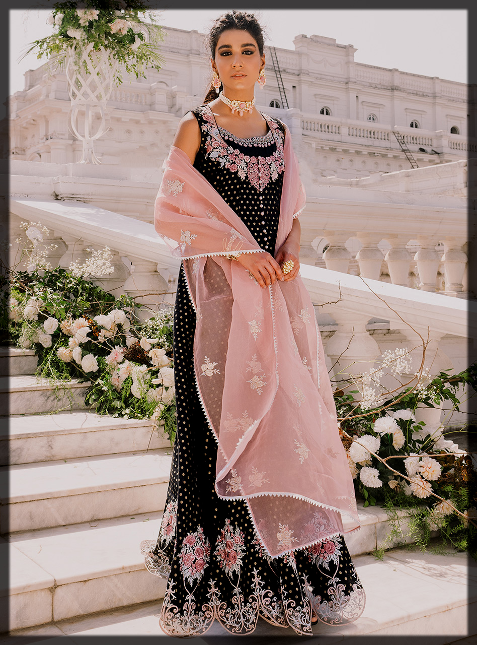 Black Zainab Chottani Eid Collection for Women