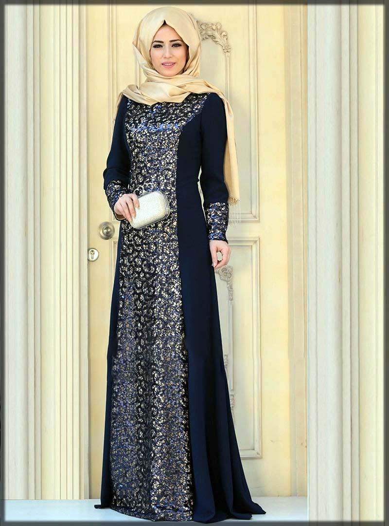 Black emroidered wedding style abaya