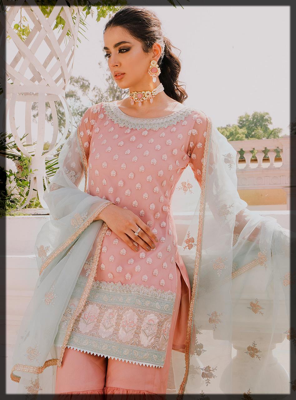 Blush Pink eid suit for women