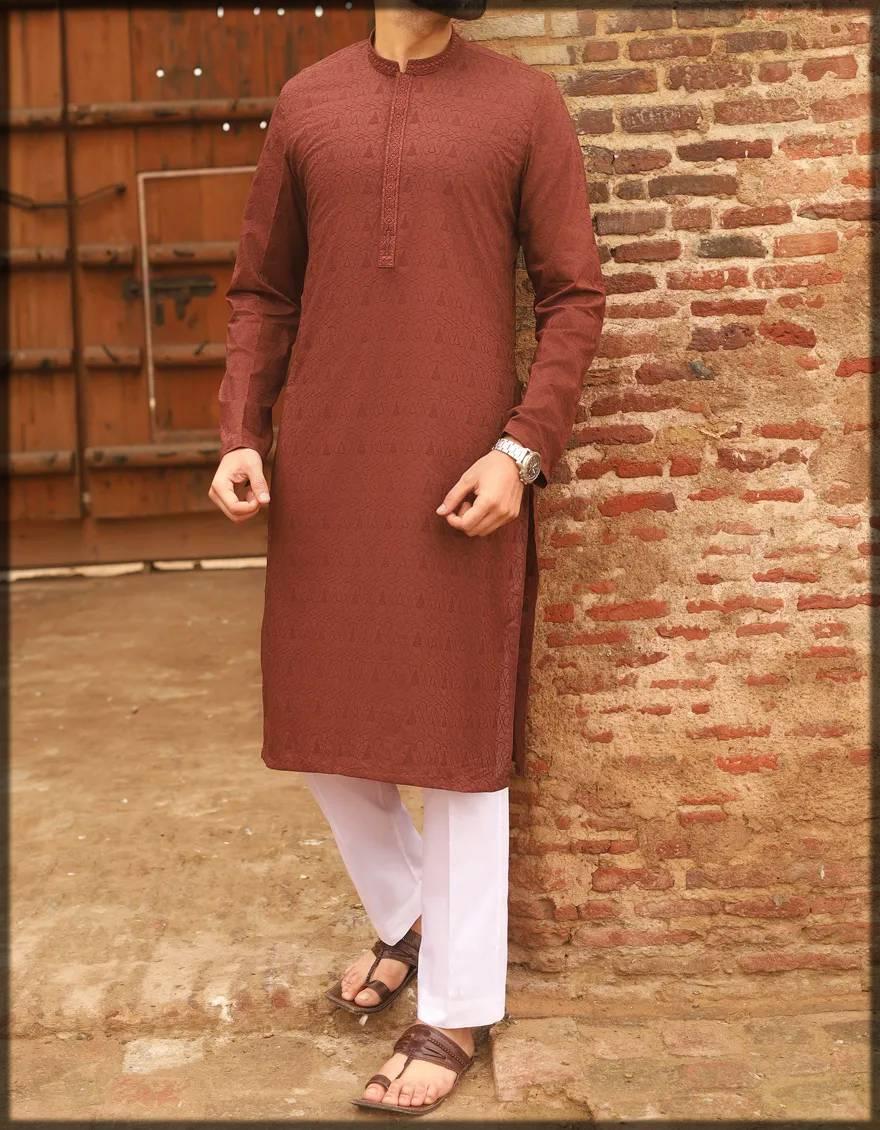 Brown colored attire