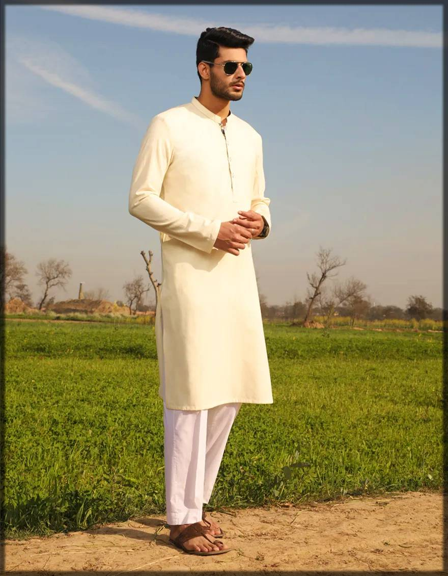 Bunnat attire in cream color