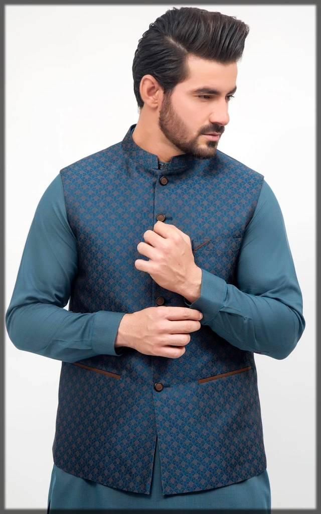 Cambridge printed fancy waistcoat for men