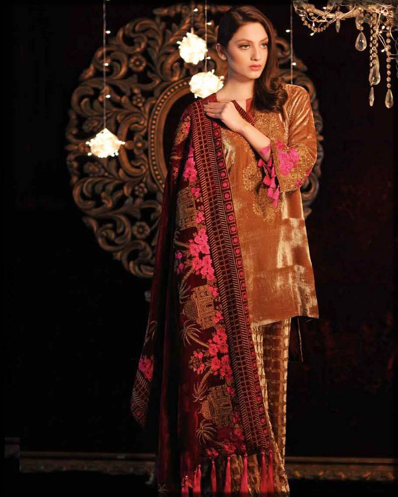 Charizma velvet dress for formal wear