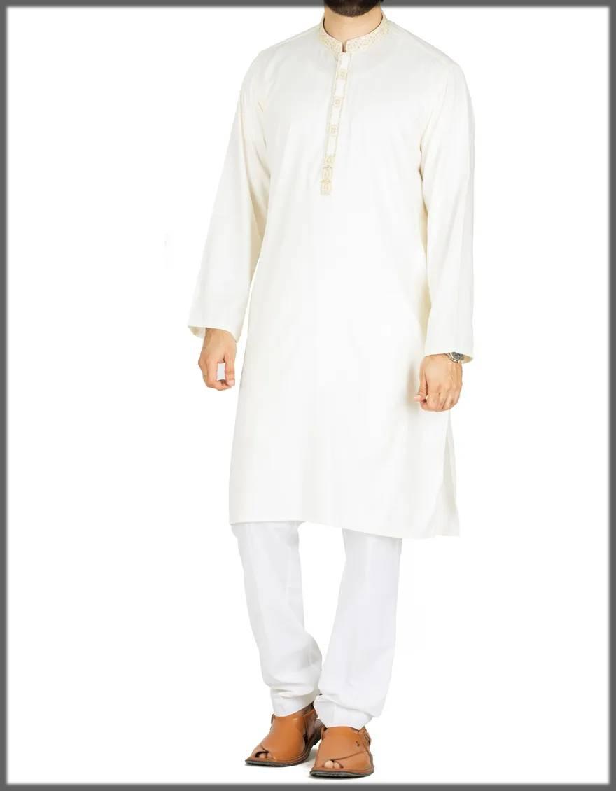 Creamy-colored Kurta for men