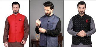 Edenrobe Men Waistcoat Designs 2021 - Waistcoat with Shalwar Kameez