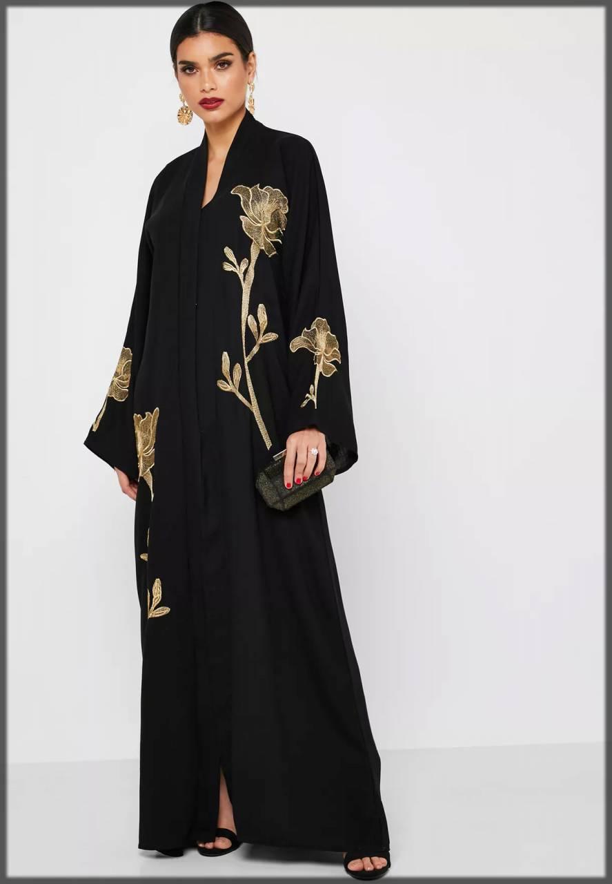 Embellished black closet abaya