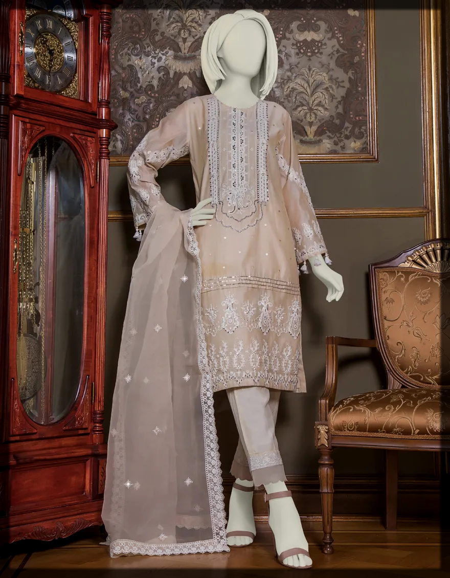 Embroidered Dyed Semi Formal Suit for ladies
