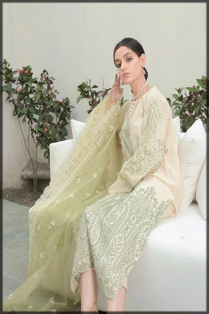 Embroidered Jasmine Lawn Suit