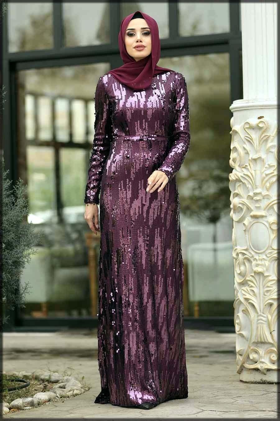 Fancy bridal abaya dress