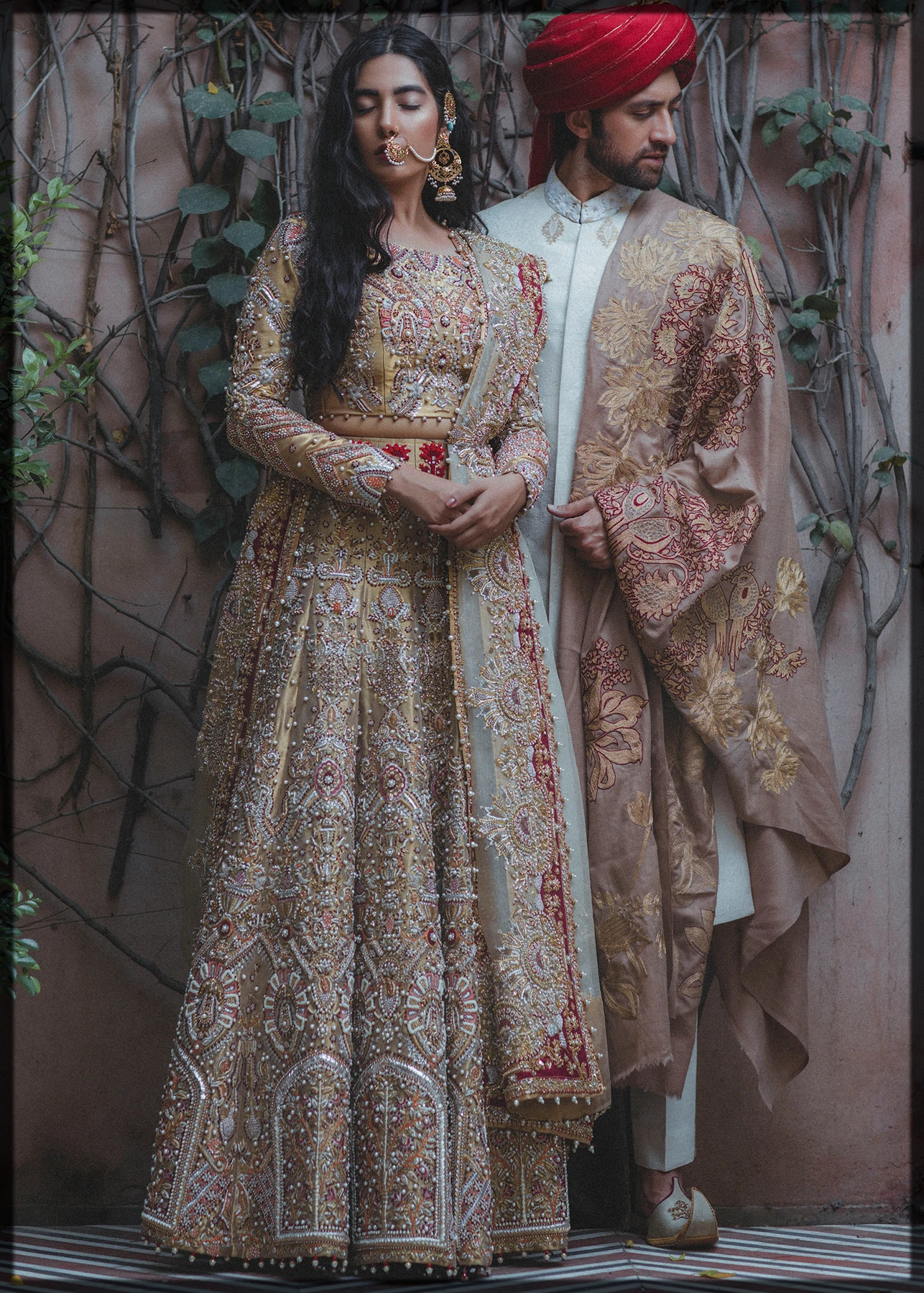 Floral Embroidered Outfits by Ali Xeeshan
