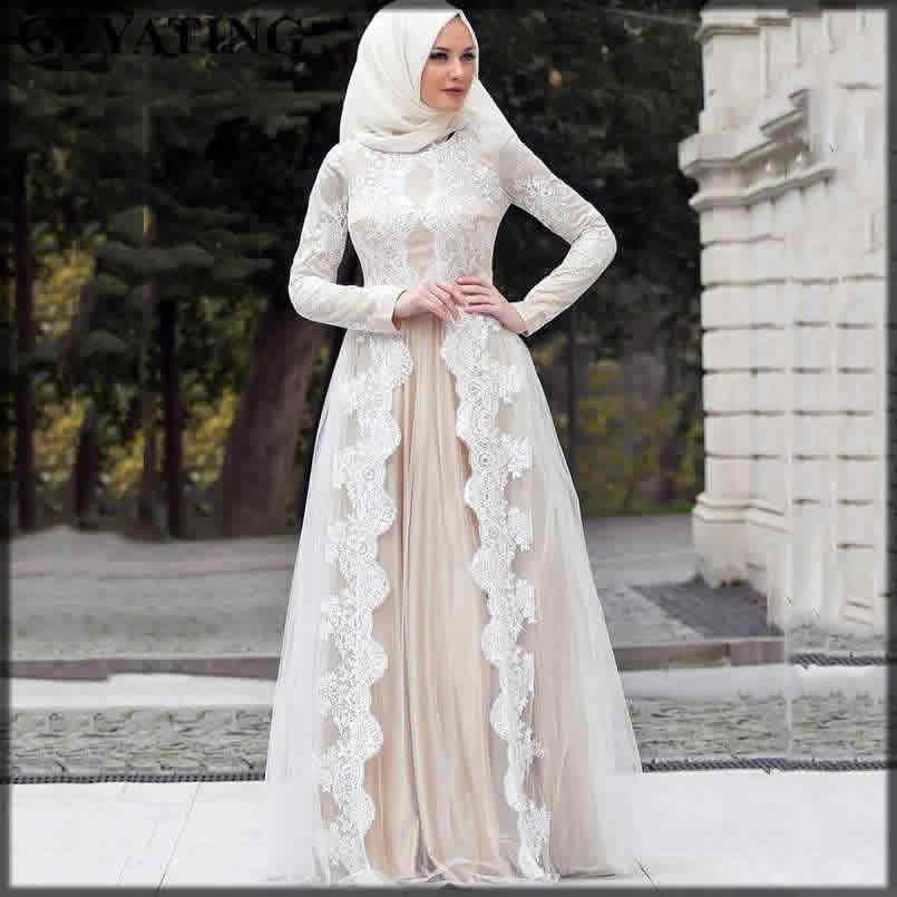 Front open wedding abaya dress