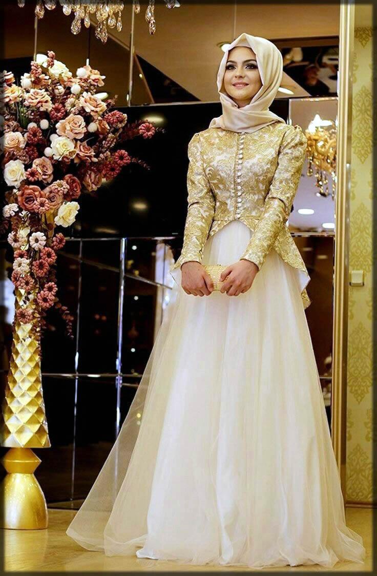 Golden net bridal abaya design