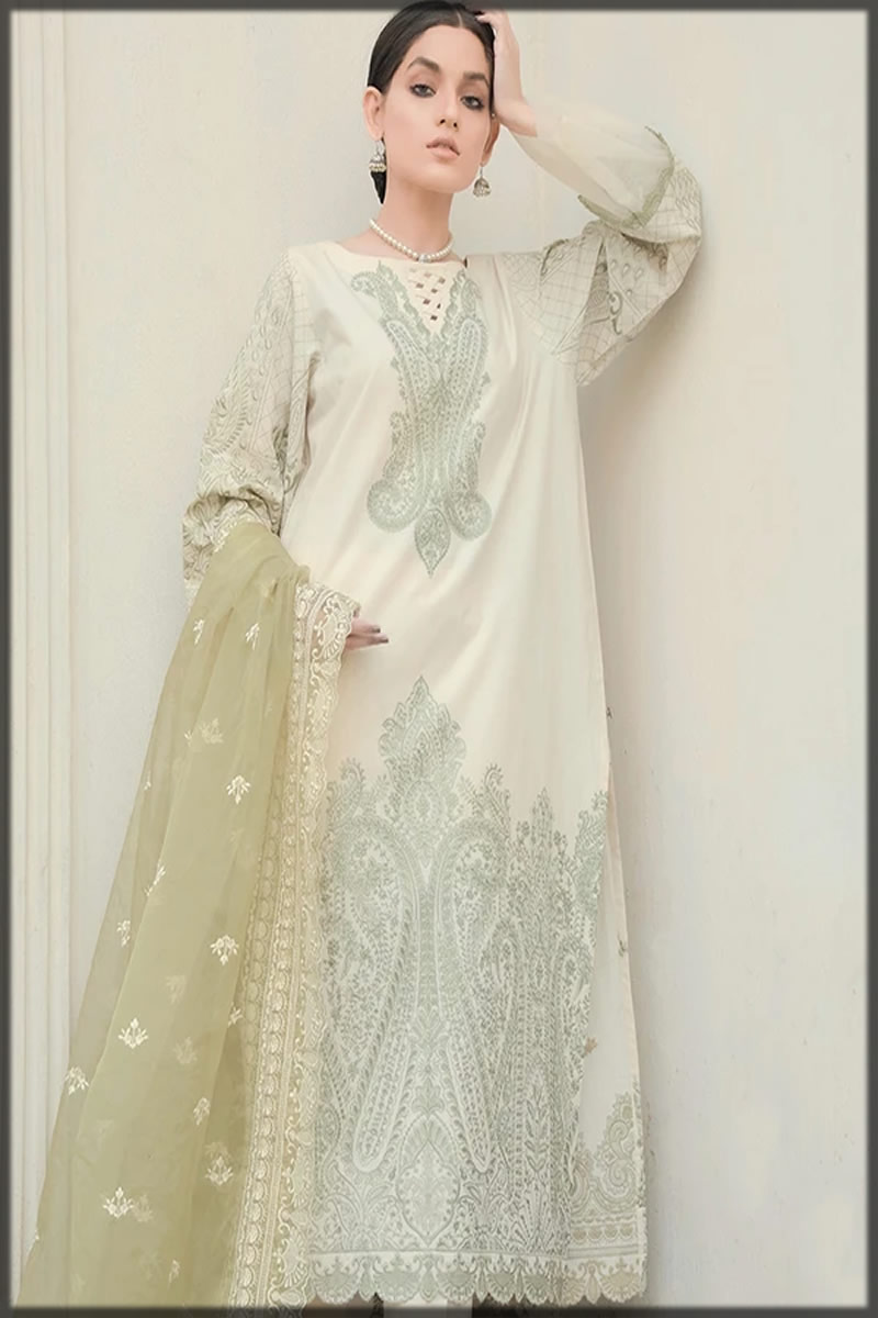 Jasmine Embroidered Lawn Suit